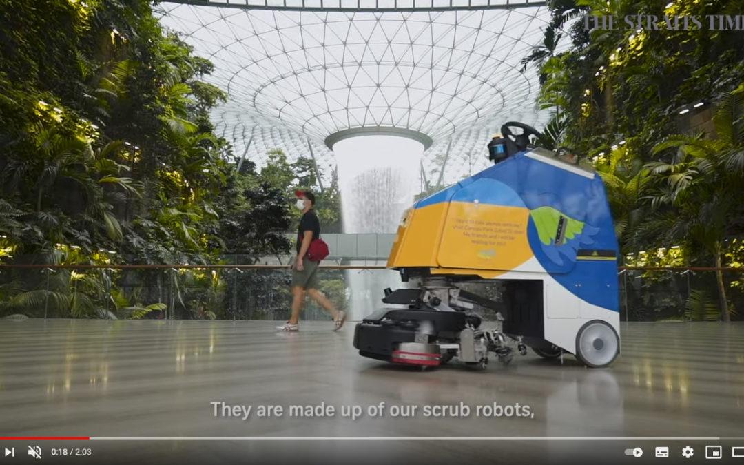 Los robots están revolucionando la experiencia de los pasajeros en Singapur